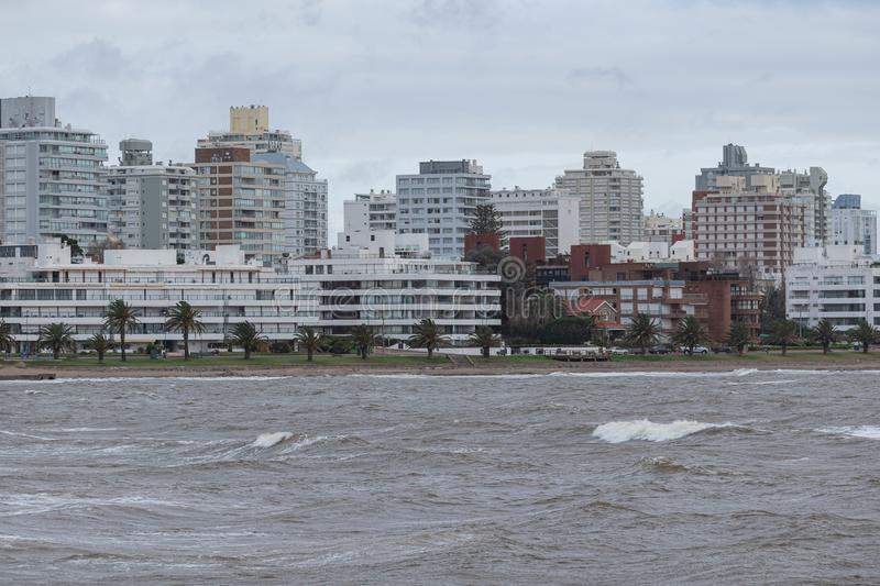 Punta del Este Peninsula beautiful place and beaches in eastern Uruguay royalty free stock photo