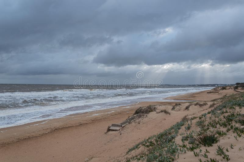 Punta del Este Peninsula beautiful place and beaches in eastern Uruguay royalty free stock images