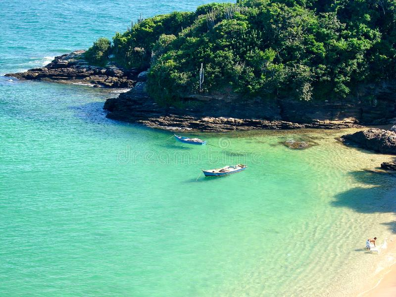 Beautiful beaches in the south of america oceanic coast of Brazil. Oceanic coast in Brazil to enjoy the beaches and the mountains stock images