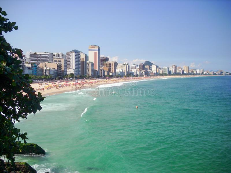 Beautiful beaches in the south of america oceanic coast of Brazil. Oceanic coast in Brazil to enjoy the beaches and the mountains stock photos