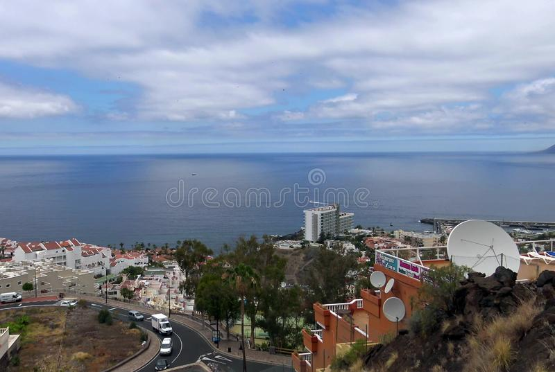 Beautiful beaches of Tenerife island royalty free stock photography