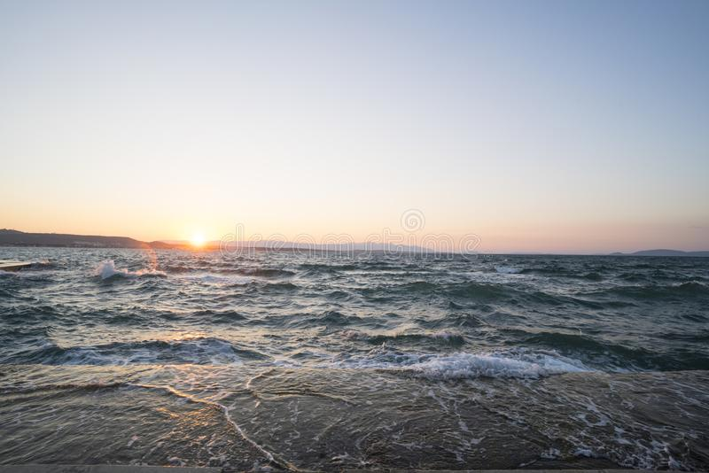 Beachscape In Izmir royalty free stock photo