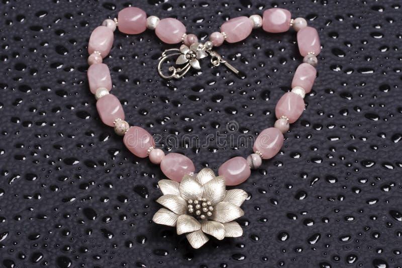 Beautiful Beaded Necklace Heart Shaped Stock Image