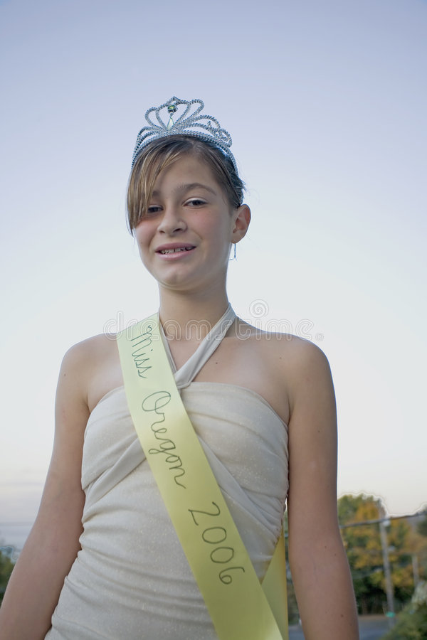 Beautiful Beauty Queen. Photo of a beautiful beauty queen from Oregon royalty free stock photos