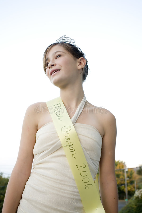 Beautiful Beauty Queen. Photo of a beautiful beauty queen from Oregon royalty free stock image