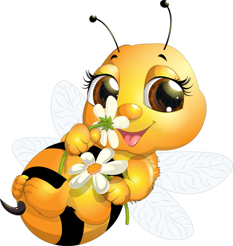 Beautiful bee royalty free illustration