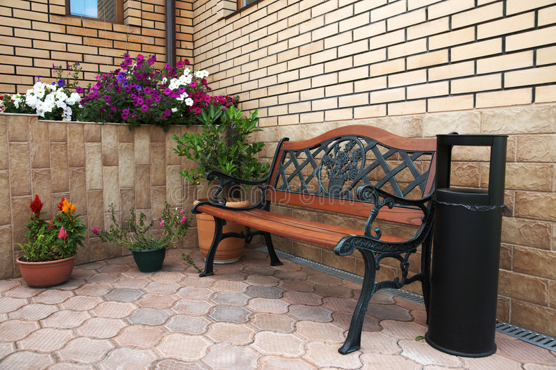 Download Beautiful bench stock image. Image of house, color, image - 2816867