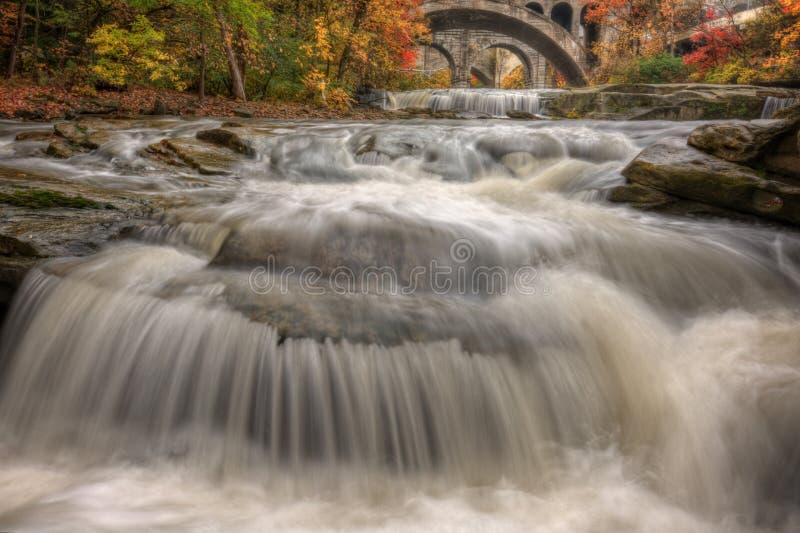 Beautiful Berea Falls In Autumn stock image