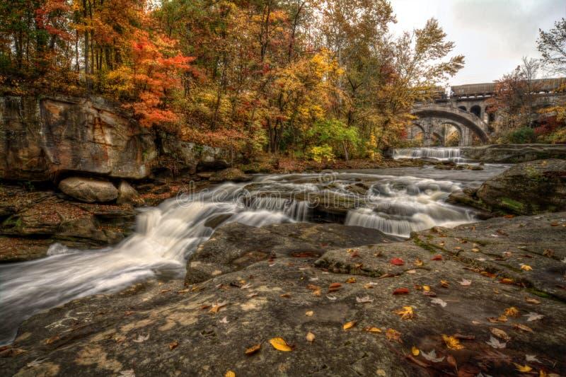 Beautiful Berea Falls In Autumn stock photos