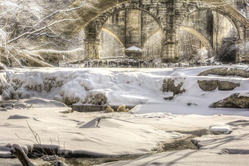 Beautiful Berea Falls In Winter stock images
