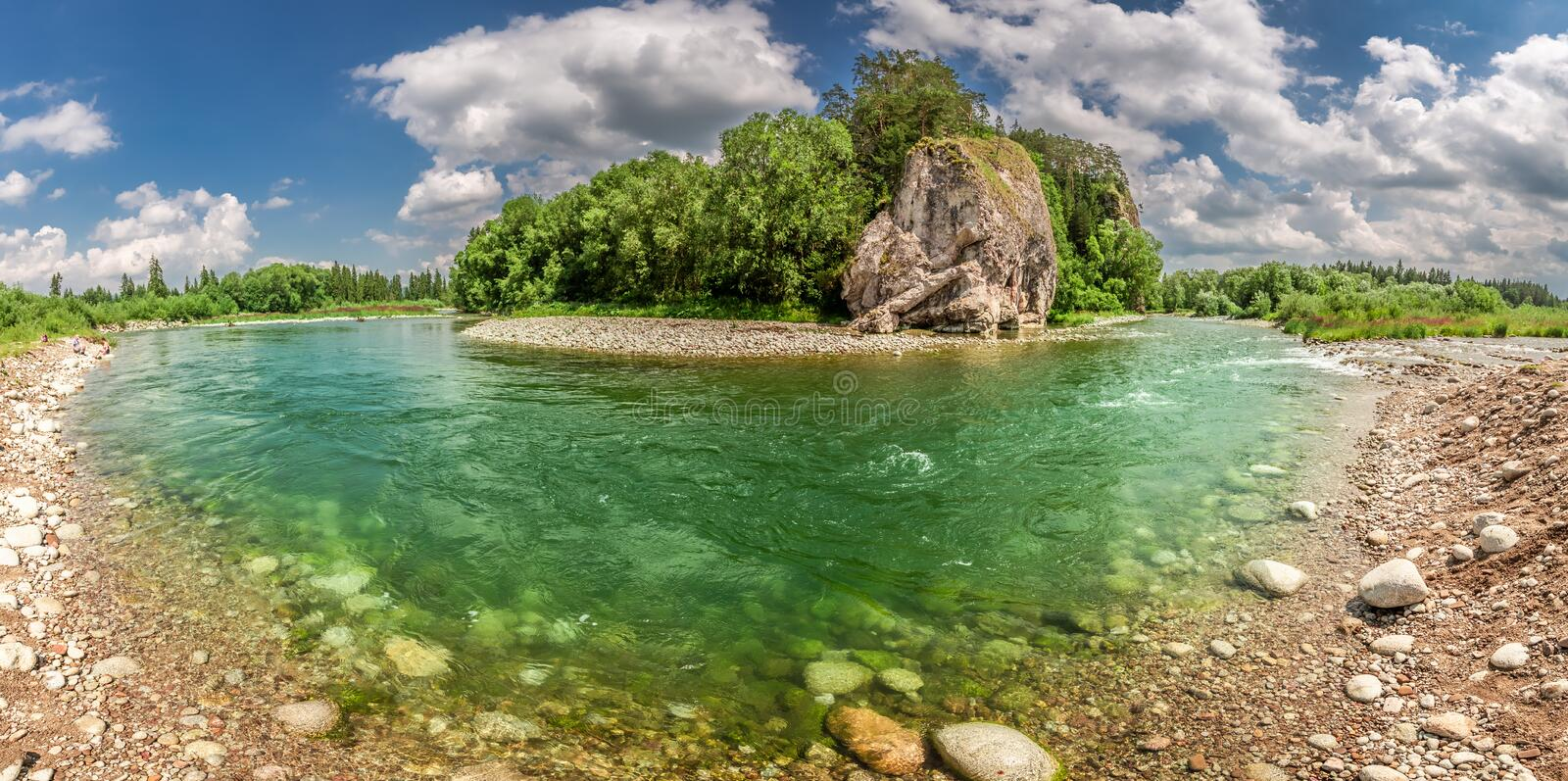 Beautiful Bialka River in the pieniny mountains in sunny day. Europe stock photos