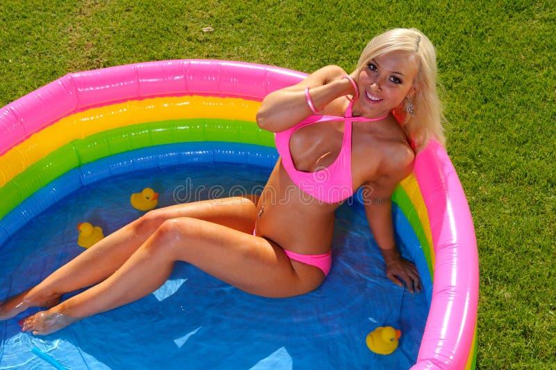 Download Beautiful  bikini girl stock image. Image of colorful - 24126915