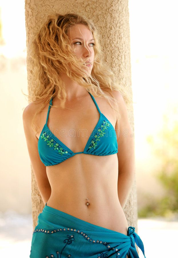 Beautiful Bikini Model stock photo