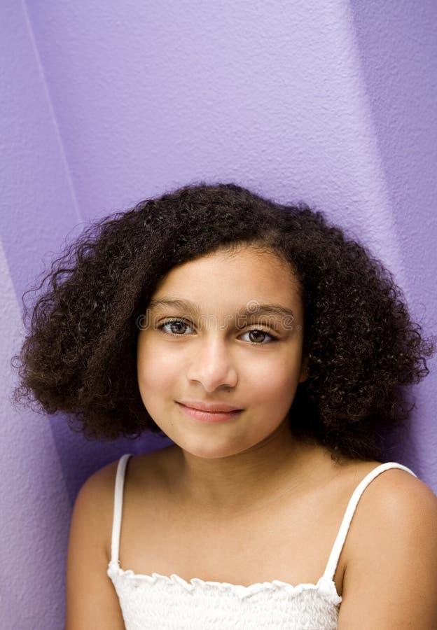 Beautiful Biracial Girl royalty free stock photography