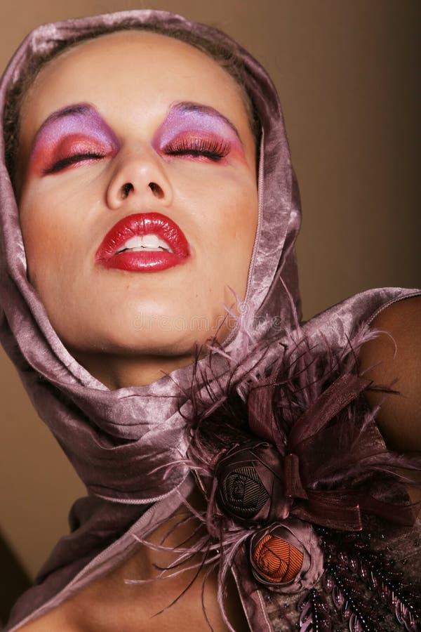 Beautiful biracial woman stock photo