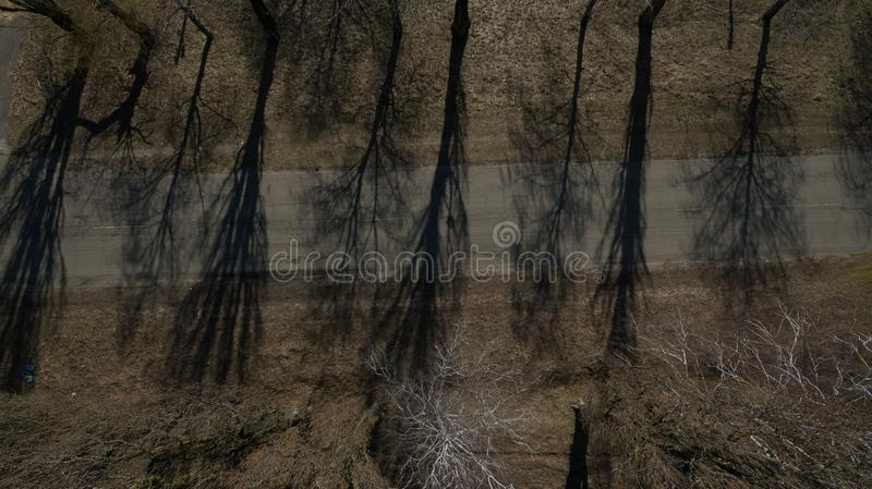 Beautiful bird`s-eye photo taken on drone. Beautiful bird`s-eye photo. Made on drone. Terrain from a height royalty free stock photography