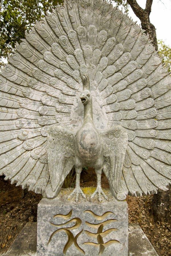 Beautiful bird statue stock photos