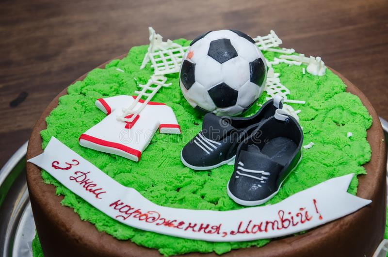 Tremendous Birthday Cake Soccer Stock Photos Download 220 Royalty Free Photos Personalised Birthday Cards Veneteletsinfo