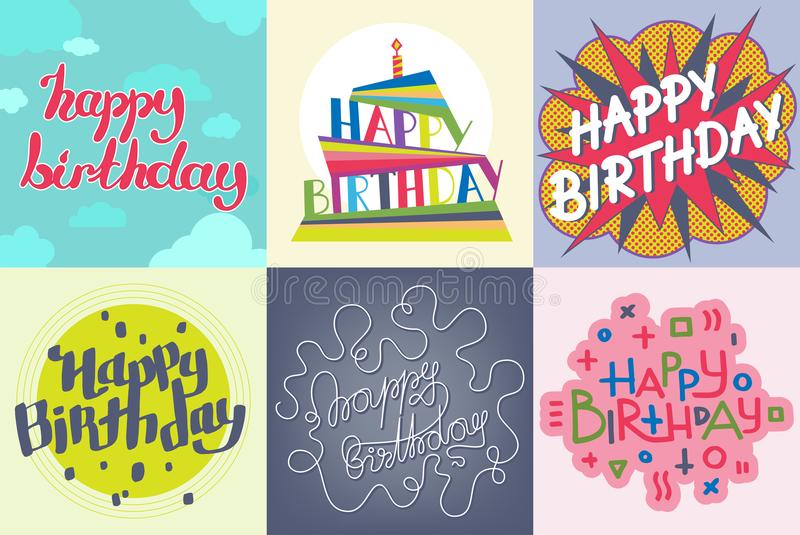 Beautiful Birthday Invitation Card Design Colorful Lettering