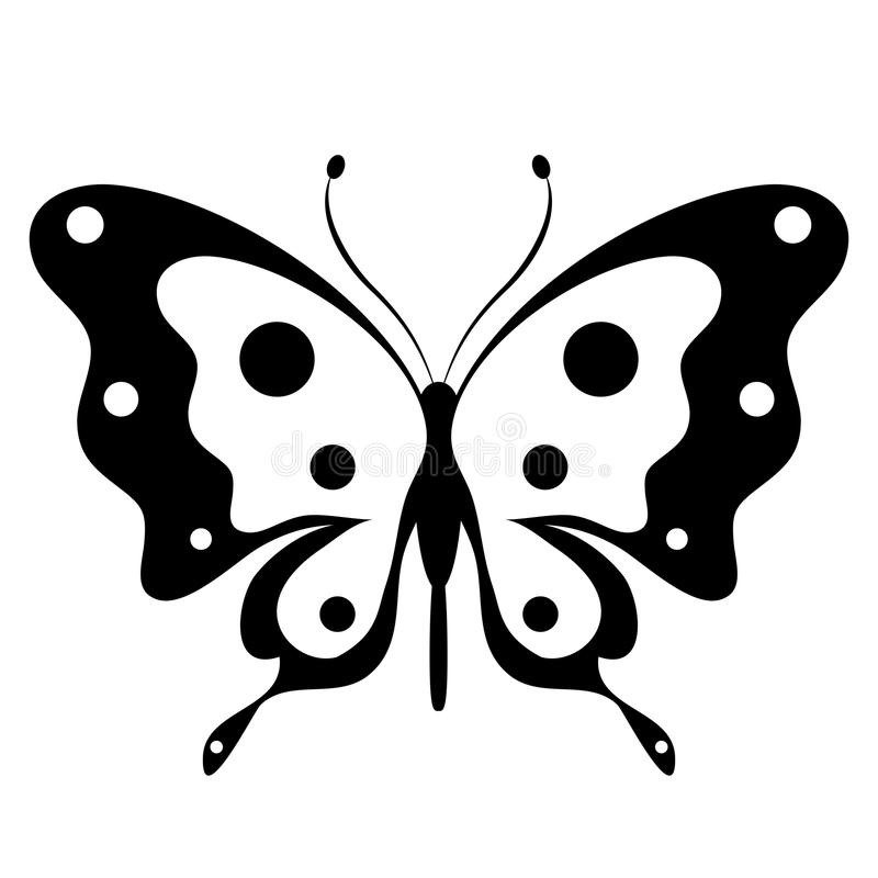 Free Beautiful Black Butterfly, Isolated On A White Royalty Free Stock Photos - 103059638