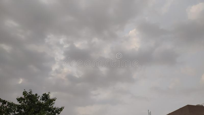 Black cloud in the sky royalty free stock image