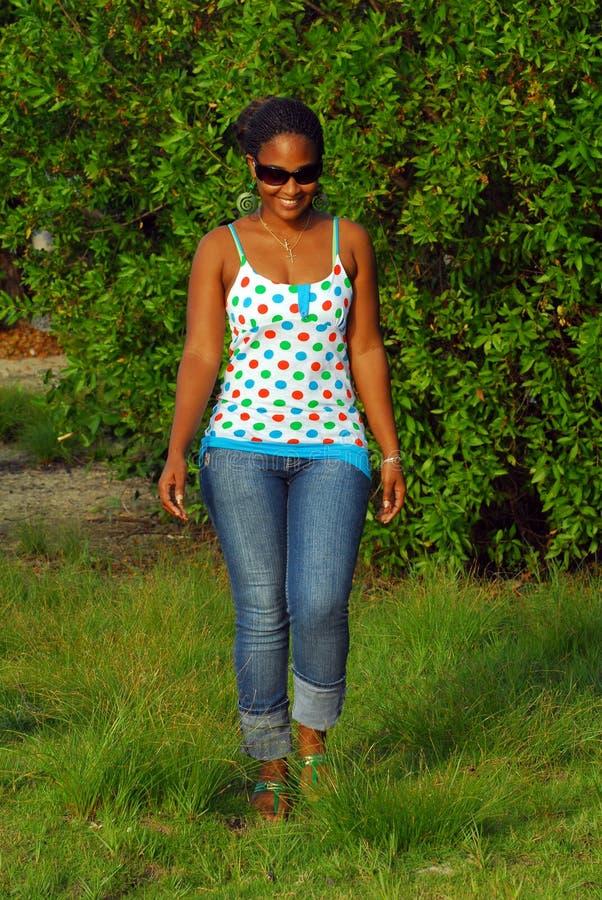 Free Beautiful Black Island Girl Royalty Free Stock Image - 8853356