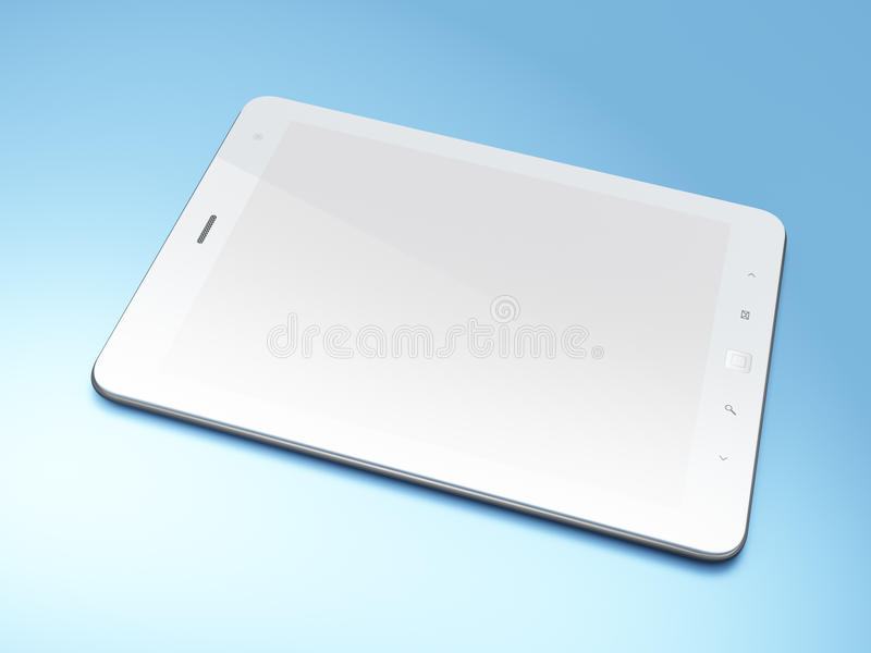 Download Beautiful Black Tablet Pc On Blue Background Stock Illustration - Image: 24374027