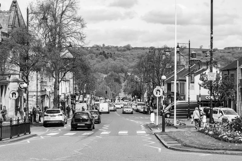 Ilkley Town Centre stock images