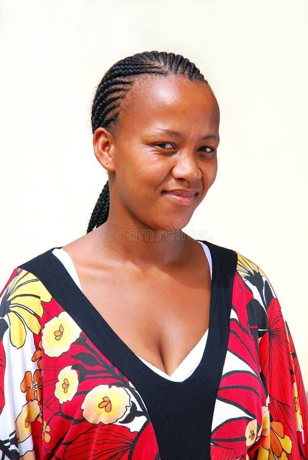 Beautiful black woman stock image