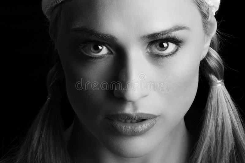 Beautiful blond in closeup royalty free stock photography