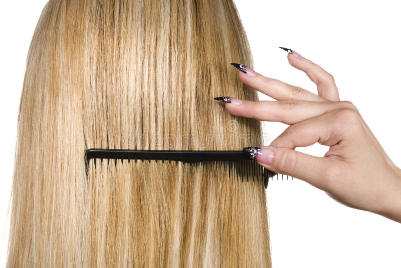 Beautiful blond hair royalty free stock image