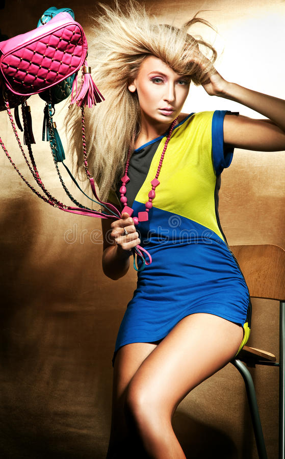 Download Beautiful blond lady stock image. Image of make, desire - 11530299