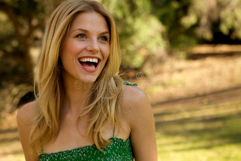 Download Beautiful Blond With Toothy Smile Stock Image - Image: 9726959