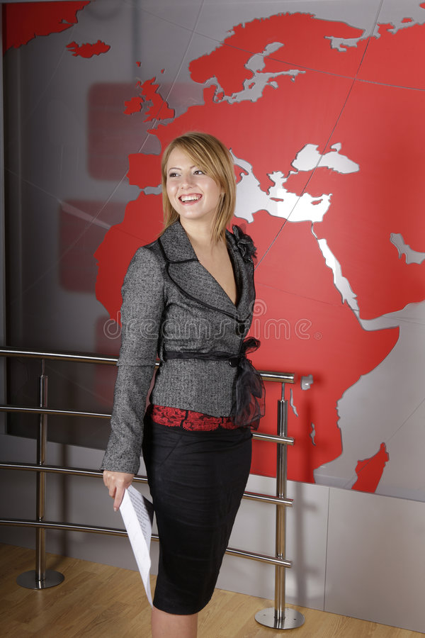 Download Beautiful Blond TV Journalist Smiling Editorial Photography - Image: 7668232