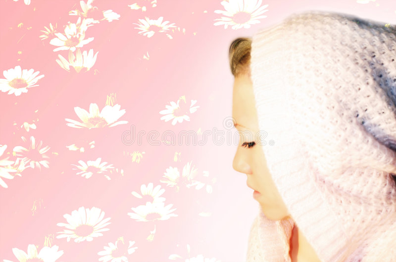 Beautiful Blond Woman with Cap royalty free stock photography