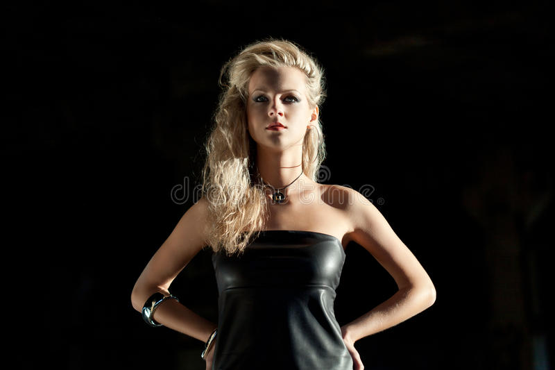 Beautiful blond woman portrait royalty free stock image