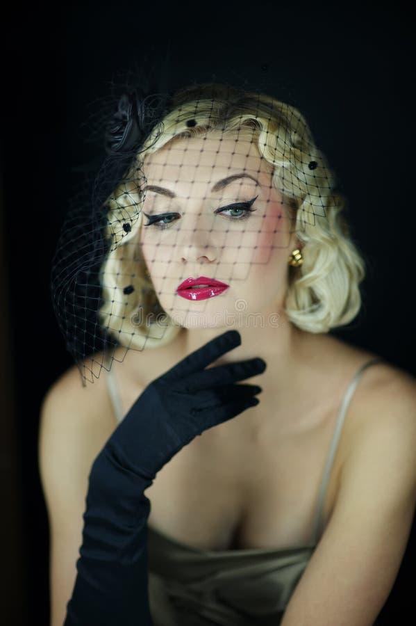 Download Beautiful Blond Woman Retro Portrait. Stock Photo - Image: 19879200