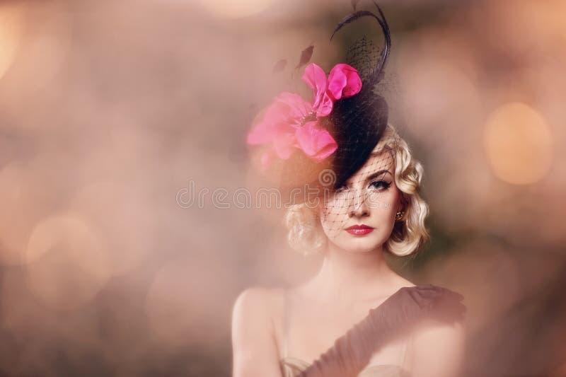Download Beautiful Blond Woman Retro Portrait. Stock Photo - Image: 19879232
