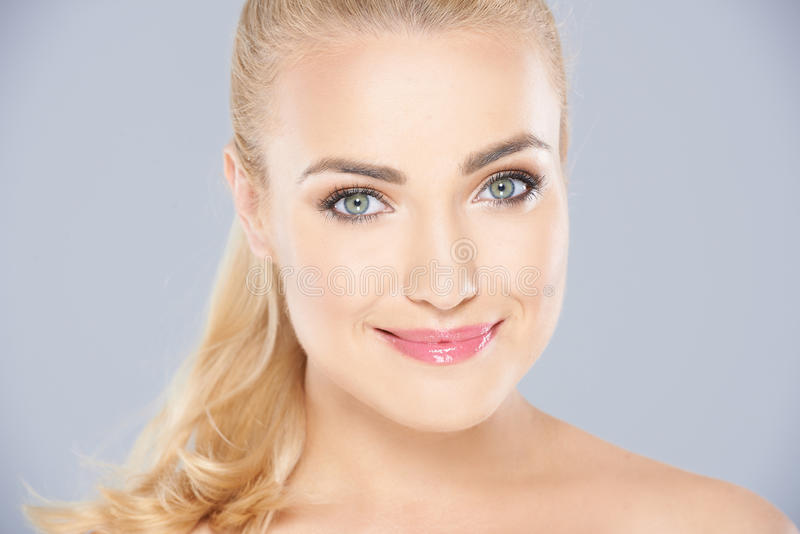 Download Beautiful Blond Woman With A Serene Smile Stock Photo - Image: 41204978