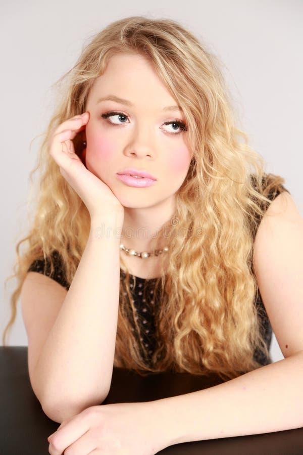Download Beautiful blond woman stock image. Image of average, girl - 35551029