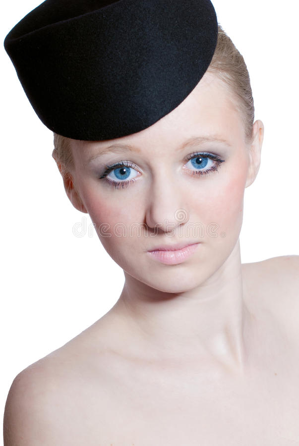 Download Beautiful Blond Young Girl With Blue Eyes Isolated Stock Image - Image: 23579951