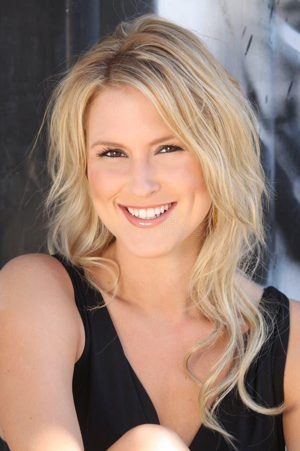 Beautiful Blond Young Woman Stock Image
