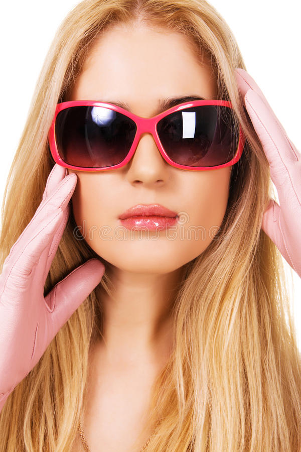 Download Beautiful Blonde In A Big Sunglasses Stock Photo - Image of female, model: 13077740