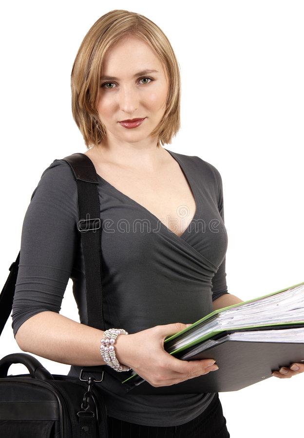 Beautiful blonde businesswoman royalty free stock photos