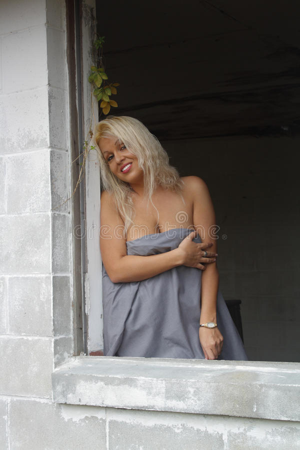 Beautiful Blonde in a Dilapidated House (4)