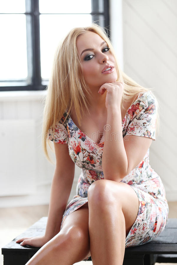 Beautiful blonde royalty free stock photos