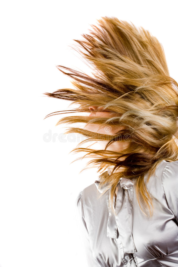 Download Beautiful Blonde Flipping Hair Stock Photo - Image: 8210394