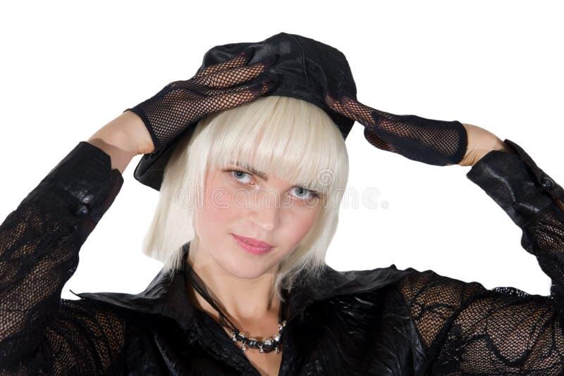 Beautiful blonde girl stock photo