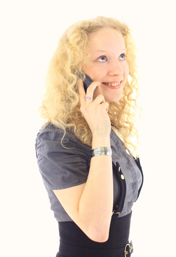 Download Beautiful blonde girl stock photo. Image of cellular - 22011612