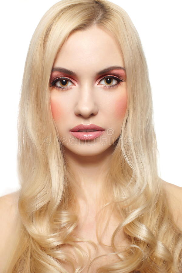 Download Beautiful Blonde Girl With Pretty Pink Makeup Royalty Free Stock Photography - Image: 22697037